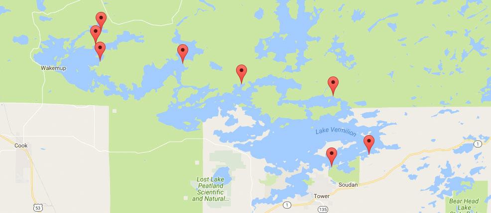 Shore Lunch Sites on Lake Vermilion